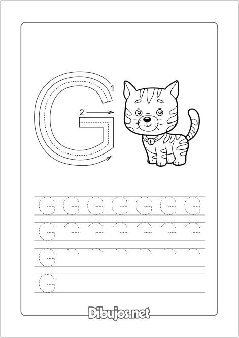 Ejercicios de Grafomotricidad: las letras del Abecedario - Dibujos.net